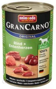 Animonda GranCarno Adult Dog smak Wołowina i kacze serca