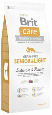 Brit Care Grain-free Senior&Light Salmon&Potato