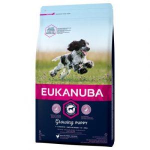 Eukanuba Growing Puppy Medium Breed kurczak