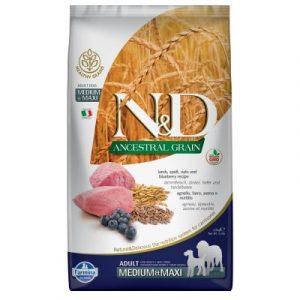 Farmina N&d Ancestral Grain Adult Medium&Maxi jagnięcina i czarna jagoda