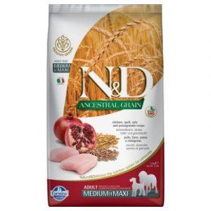 Farmina N&d Ancestral Grain Adult Medium&Maxi kurczak i owoc granatu