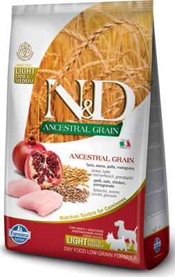Farmina N&d Ancestral Grain canine Chicken&pomegranate Light Mini&medium