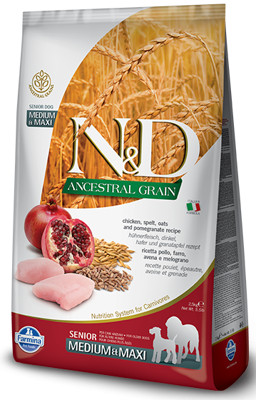Farmina N&d Ancestral Grain canine Chicken&pomegranate Senior Medium&maxi