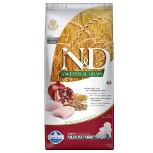 Farmina N&d Ancestral Grain Puppy Medium&Maxi kurczak i owoc granatu