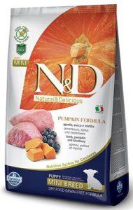 Farmina N&d Pumpkin Mini Puppy Lamb dynia Grain Free Blueberry Natural&Delicious