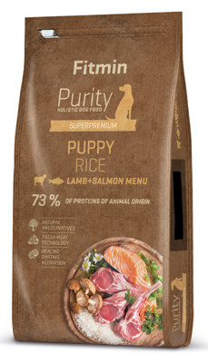 Fitmin purity puppy rice lamb&salmon