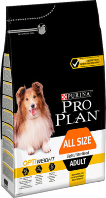 Purina Pro Plan Adult Light Optiweight Sterilised kurczak i ryż