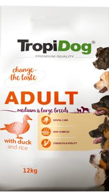Tropidog Premium Adult Medium&large Breed Duck&rice
