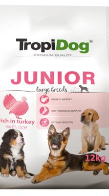 Tropidog Premium Junior Large Breed Turkey With Rice