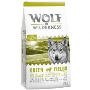 "Wolf of Wilderness Adult ""Green Fields"" jagnięcina"